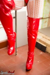 pvc booted babe